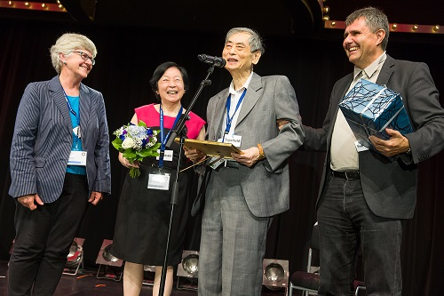 Prof Sow-Hsin Chen receives the Guinier Prize